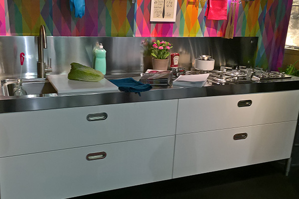 Colorful kitchen in Cologne fair 2017