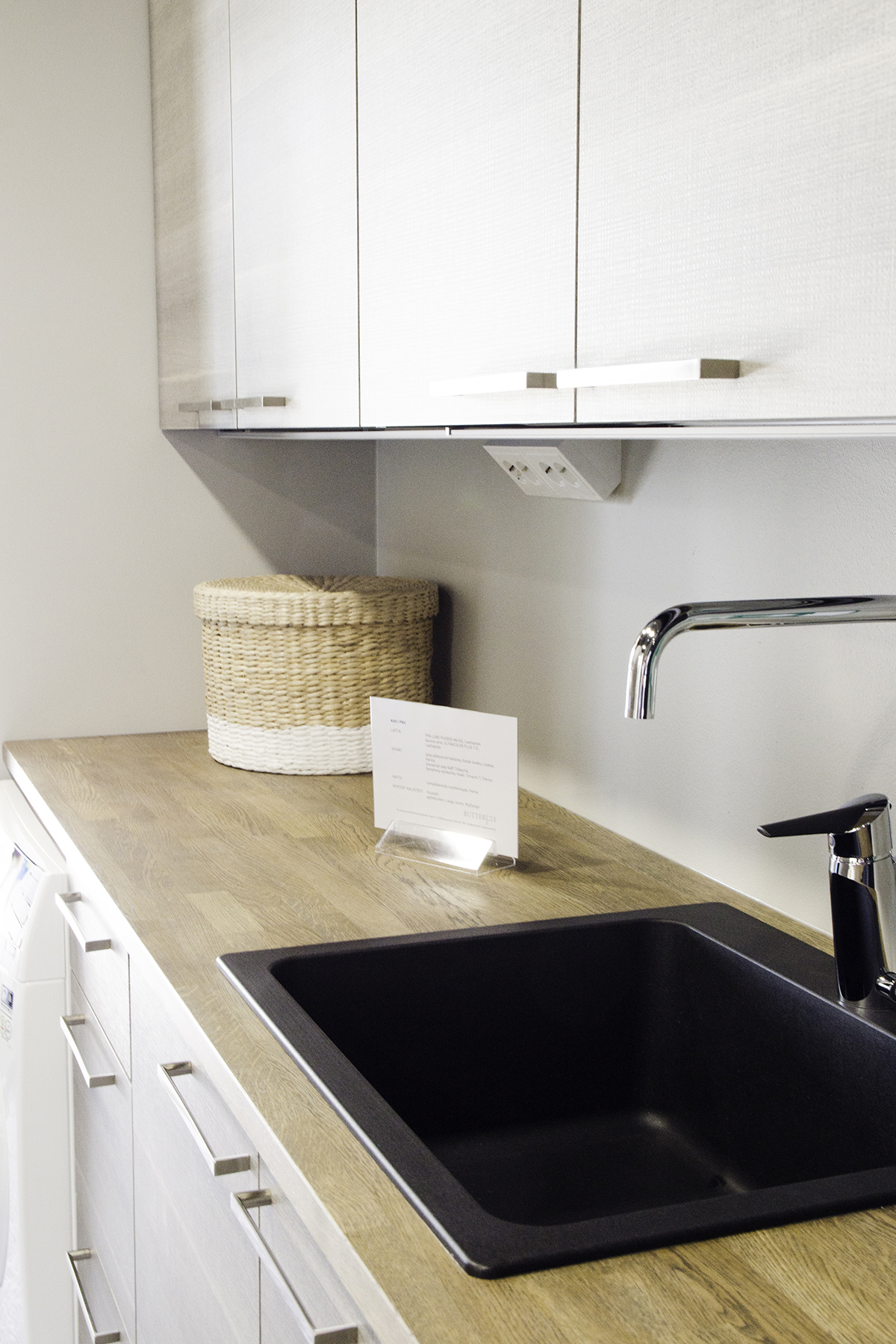 Composite sink in a utility room