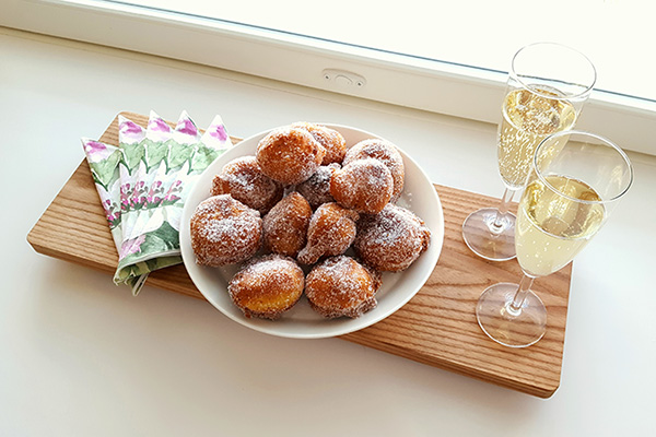 Recipe for may day doughnuts