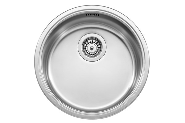 Jazz T-38PT round inset sink, stainless steel
