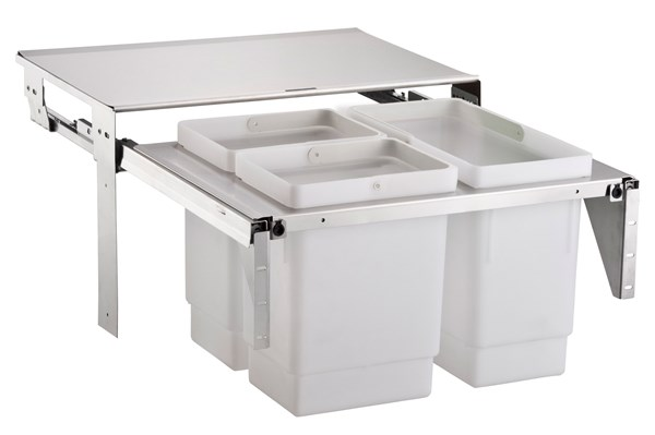 EkoCombo EKOC6-3SK with three bins - fits 60 cm cupboard