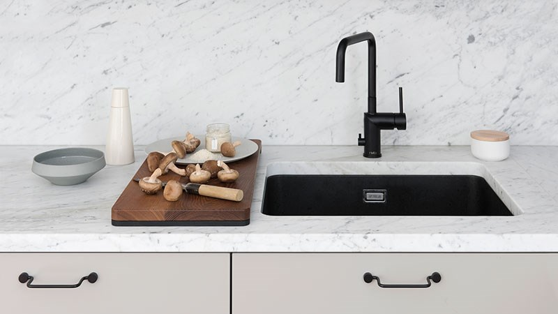 Design from Finland - black composite sinks for all methods of installation