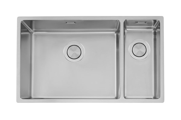 LAGOM-50-18 modern kitchen sink with 1.5 bowls