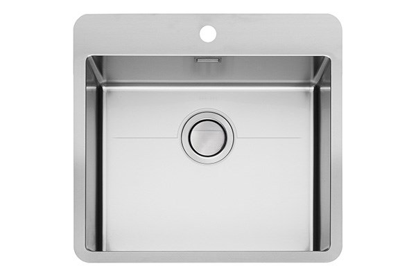 Max MXT-50 large design sink with tap area, MONOedge