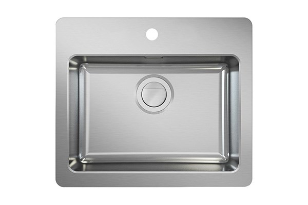 Neo N50-58, modern sink with tap area, MONOedge