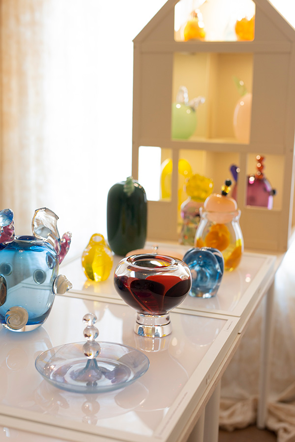 Glass art with bright colours - like candy